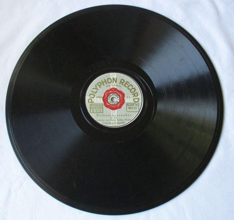 124229 Polyphon Record Schellackplatte Weihnachtszauber Bruno Seidler-Winkler