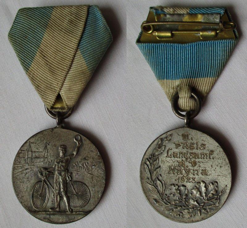 Medaille Radfahrerverein Hayna 1923, II. Preis Langsamfahrt (116872)