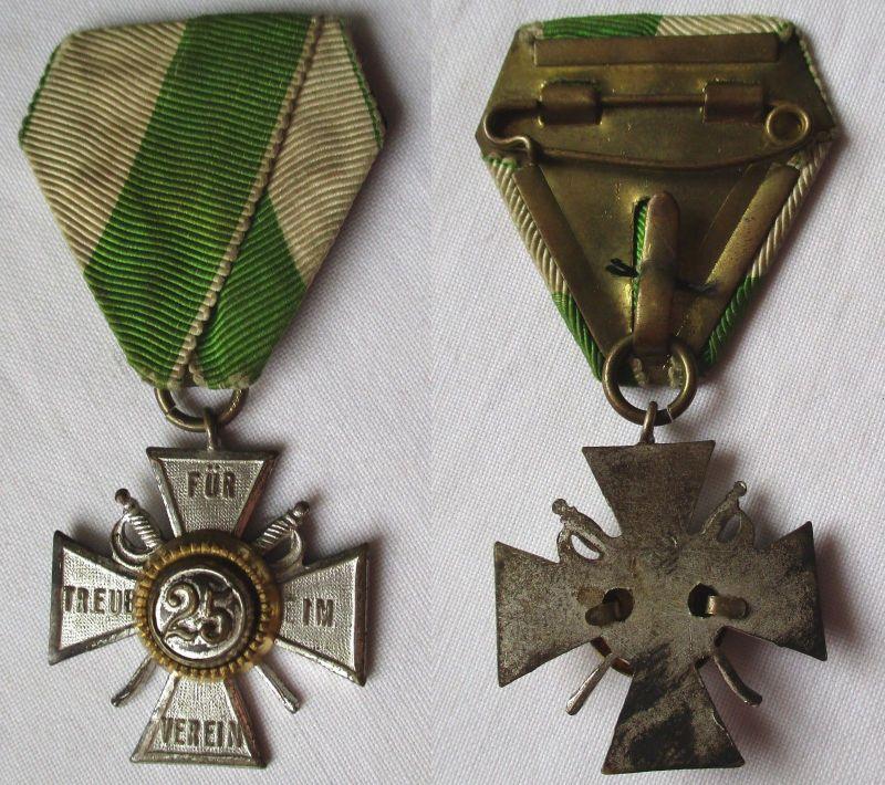Seltenes Kreuz Für Treue im Verein 25 Jahre sächsischer Militär Verein (108214)