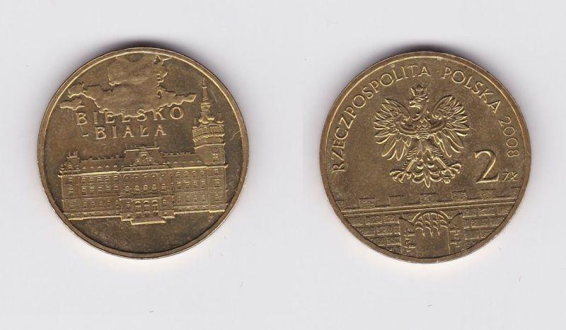 2 Zloty Messing Münze Polen Bielsko Biala 2008 120000 Nr