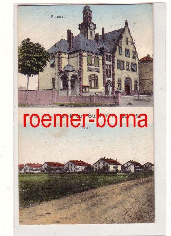 80715 Feldpost Ak Gruß aus Stahlheim Amnéville Rathaus und Siedlung 1916