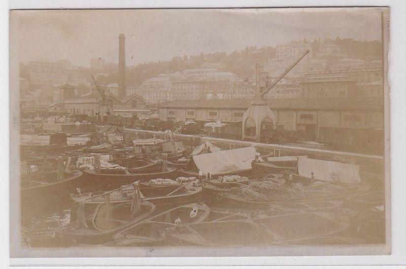 82707 Foto Quai & Lagerplätze in Genua 15.6.1914