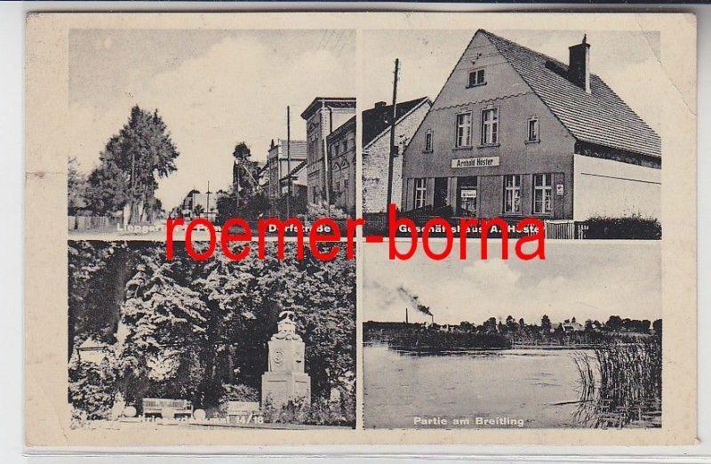 82213 Mehrbild Ak Liepgarten i.Po,. Geschäftshaus, Dorfstraße usw. 1940