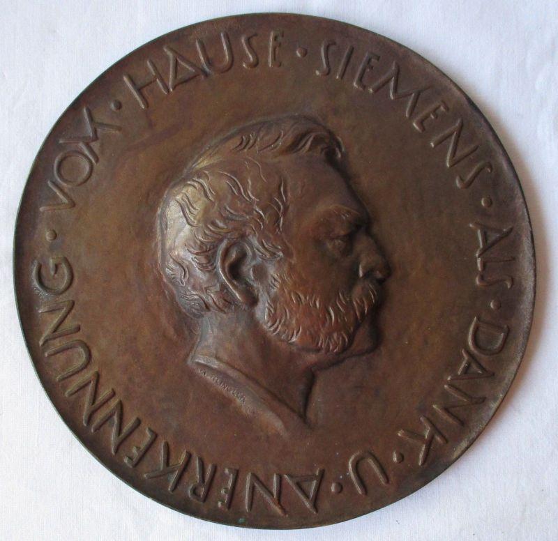 Große Gussmedaille Als Dank & Anerkennung v. Hause Siemens (A.Klingler) /111769