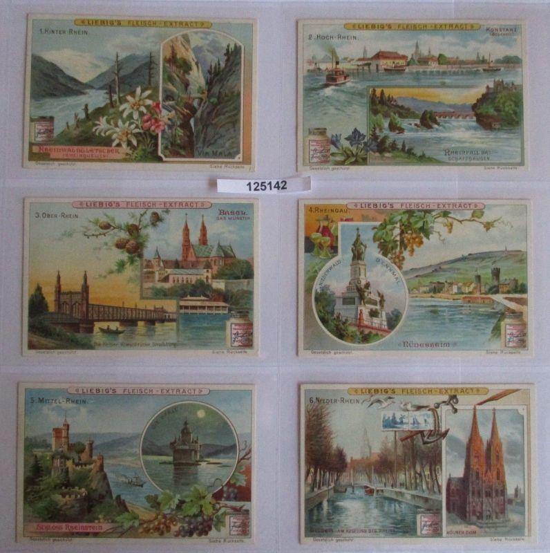 B125142 Liebigbilder Serie Nr. 542 Der Rhein 1902