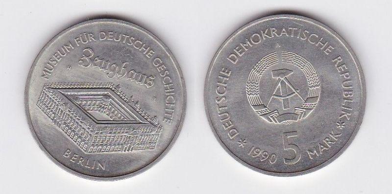 DDR Gedenk Münze 5 Mark Berlin Zeughaus 1990 (118749)