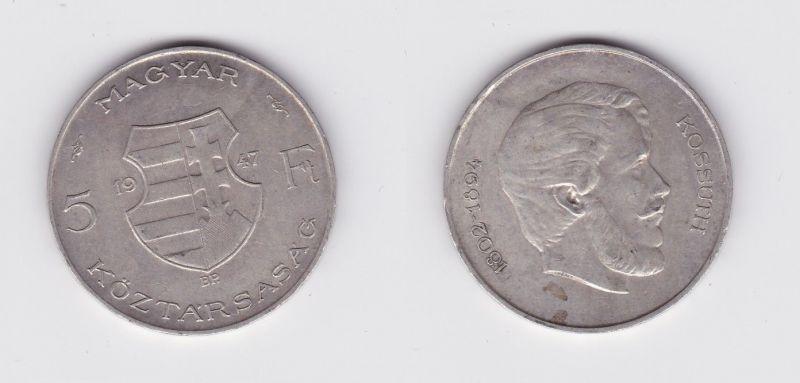 5 Forint Silber Münze Ungarn 1947 (119767)