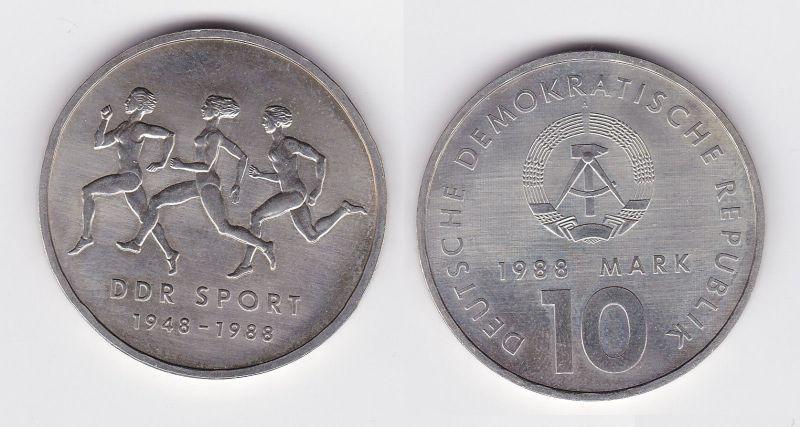 DDR Gedenk Münze 10 Mark 40 Jahre DDR Sport 1988 (108949)