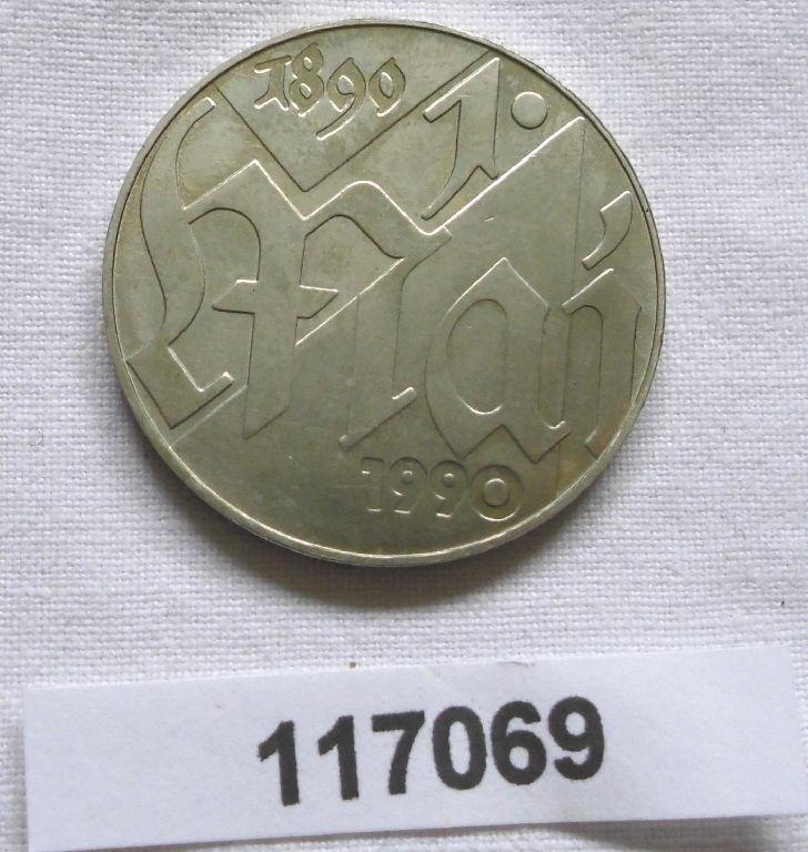 DDR Gedenk Münze 10 Mark 100 Jahre 1.Mai Feiertag 1990 (117069)