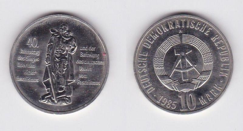 DDR Gedenk Münze 10 Mark 40.Jahre Kriegsende 1985 (121398)