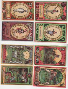 4 x 50 Pfennig Banknoten Notgeld Hamburg Zoologischer Garten 1921 (116160)