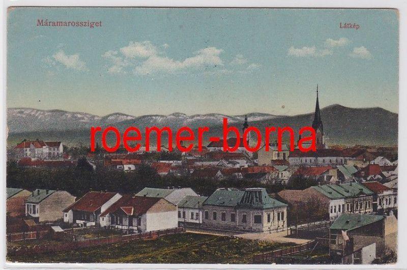 82972 Ak Máramarossziget Rumänien Látkép 1916