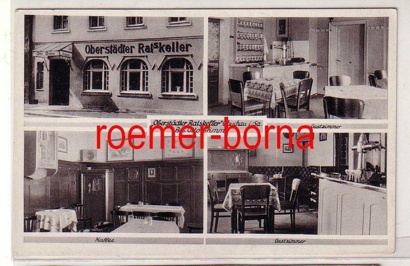 80668 Mehrbild Ak Glauchau i.Sa. Oberstädter Ratskeller von Otto Grimm um 1920