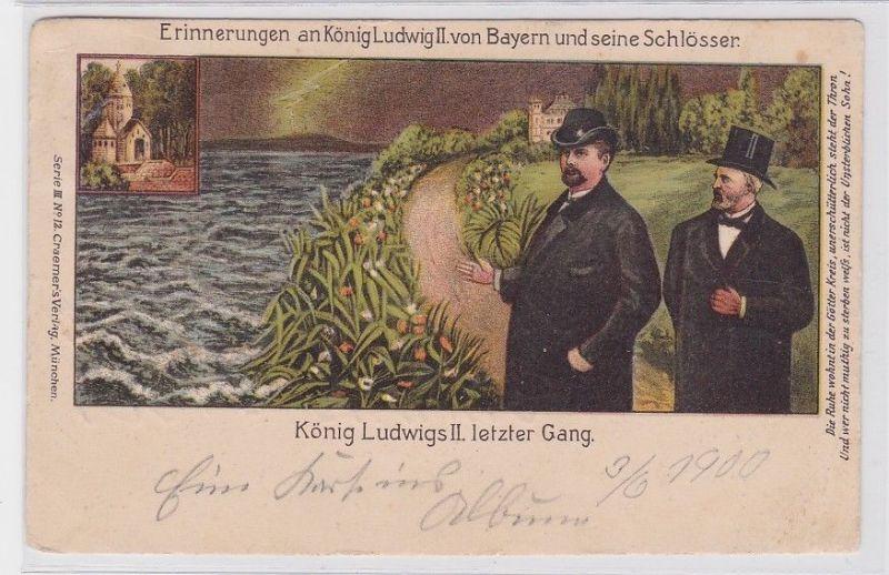90273 Ak Erinnerungen an König Ludwig II. von Bayern und seine Schlösser 1900