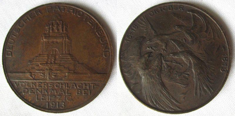 Bronze Medaille Deutscher Patriotenbund Völkerschlachtdenkmal 1913 (114208)