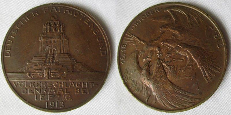 Bronze Medaille Deutscher Patriotenbund Völkerschlachtdenkmal 1913 (117402)