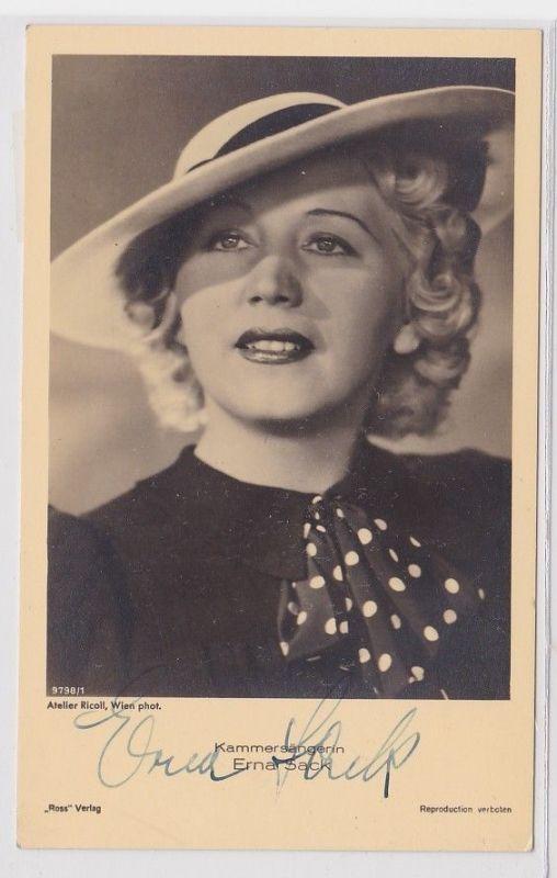67660 Autograph Karte Kammersängerin Erna Sack um 1939