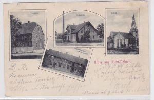 20104 AK Gruss aus Klein-Döhren - Schule, Molkerei, Kirche & Gastwirtschaft 1903
