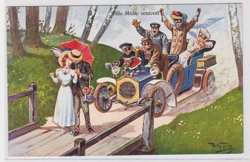88696 Künstler Ak Arthur Thiele Alle Mühe umsonst! um 1910