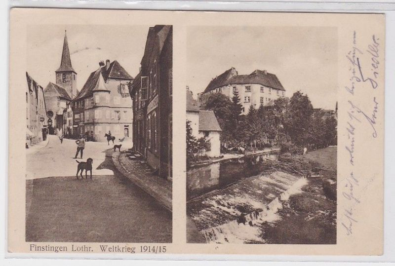 75553 Feldpost AK Finstingen Lothringen - Weltkrieg 1914/15