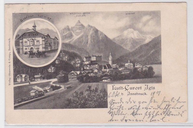 84147 AK Luft-Curort Igls bei Innsbruck - Gasthof Altwirt, Totalansicht 1901