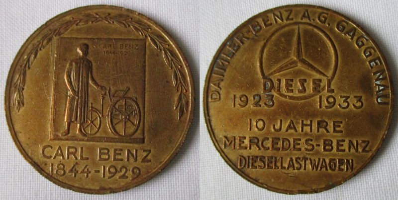 Seltene Medaille Daimler Benz A.G. Gaggenau 1923-1933 (119172)