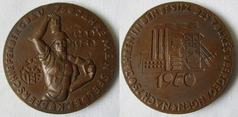 DDR Medaille 750 Jahre Mansfelder Kupferschieferbergbau 1950 (116332)