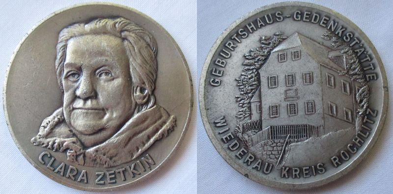 DDR Medaille Clara Zetkin Wiederau Kreis Rochlitz (123961)
