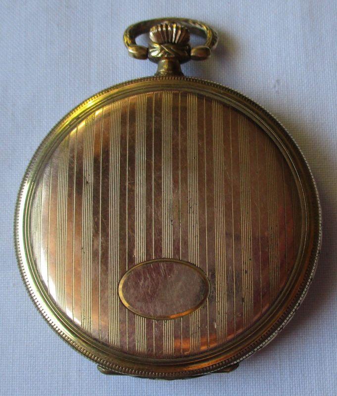Vergoldete Sprungdeckel Taschenuhr JBB um 1930 (124514)