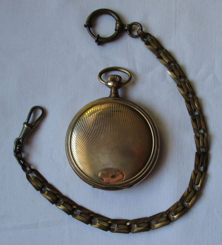 Vergoldete Sprungdeckel Taschenuhr Waltham, 15 Jewels um 1930 (124177) 0