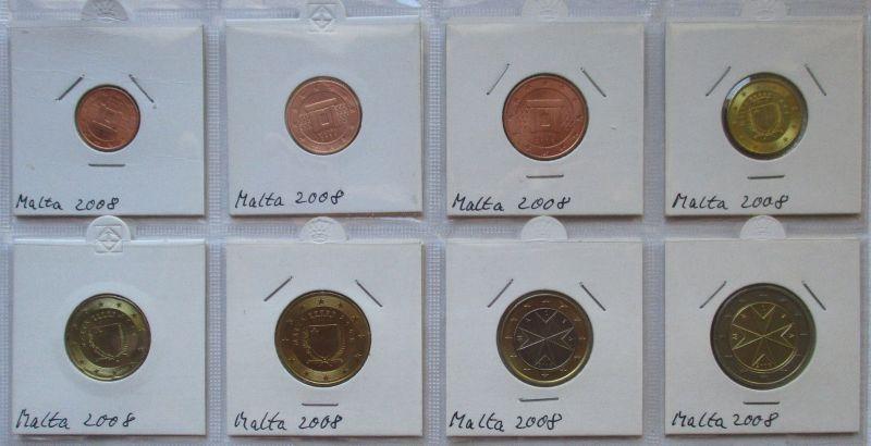 Kursmünzsatz Malta 8 Münzen 1 Cent - 2 Euro 2008 vz/Stgl. (124052)