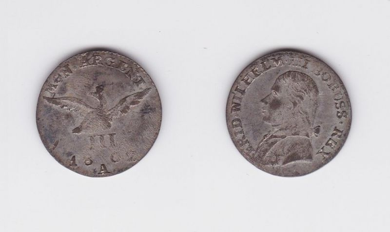 3 Gröscher Münze Brandenburg Preussen 1802 A (122460)