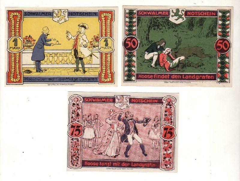 3 Banknoten Notgeld Trysa H.Spohr, F & G Waldschmidt o.D. (116917)