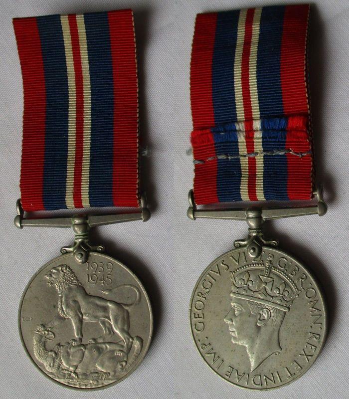 Kriegsmedaille England Großbritannien 1939-1945 George VI. am Band (114012)
