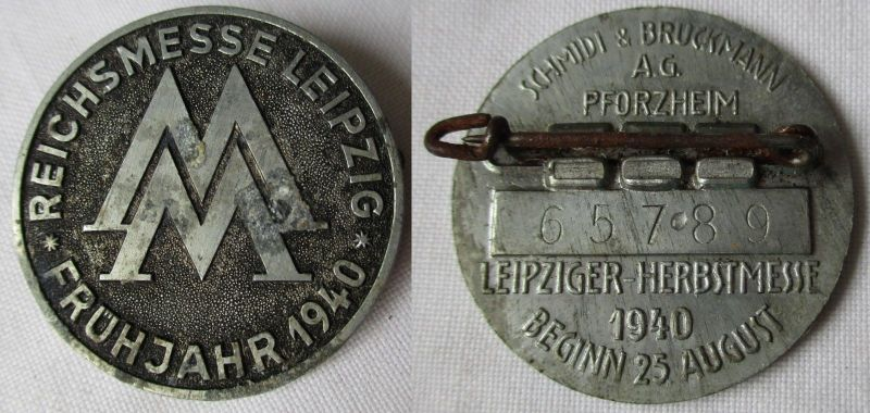 Seltenes Metall Abzeichen Leipziger Frühjahrsmesse 1940 (117898)