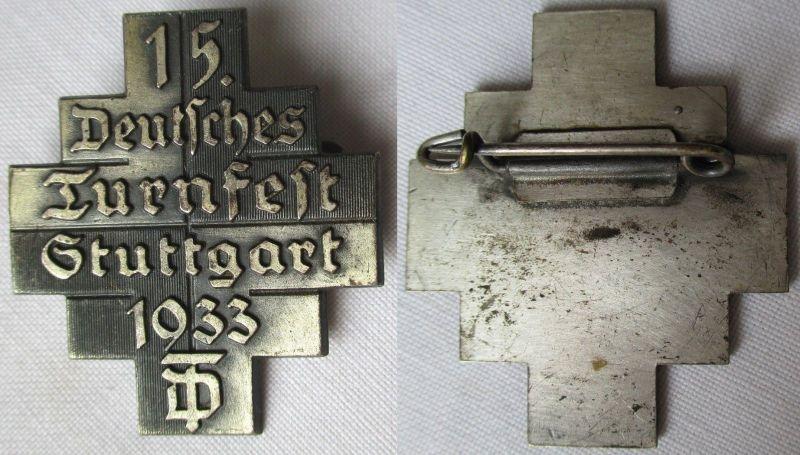 Seltenes Abzeichen 15.Deutsches Turnfest Stuttgart 1933 (116744)