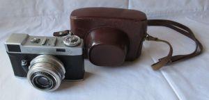Kamera Belmira + Objektiv Carl Zeiss Jena Tessar 2.8/50 Q1 mit Tasche (123584)