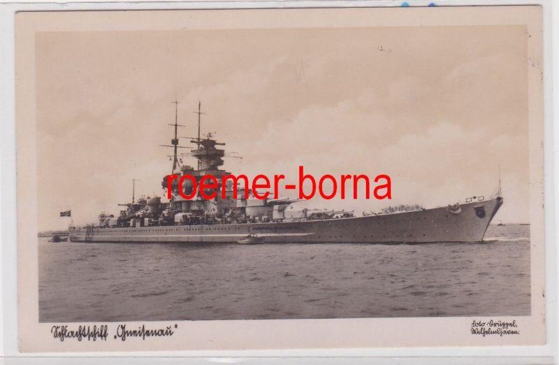 85128 Foto Ak Deutsches Schlachtschiff