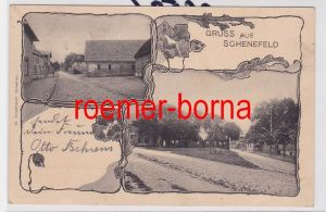 84705 Jugendstil Ak Gruss aus Schenefeld 1900