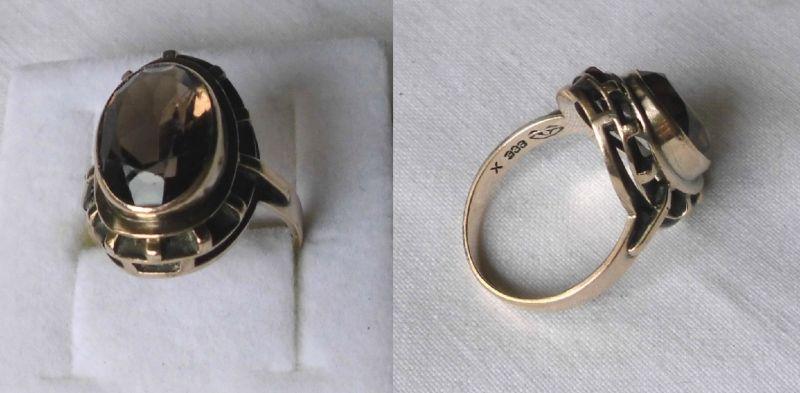 Klassischer Damen Ring 333er Gold mit Rauchquarz (122934)