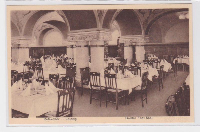 88104 AK Leipzig - Ratskeller, Großer Fest-Saal - Pächter W. Karst um 1930