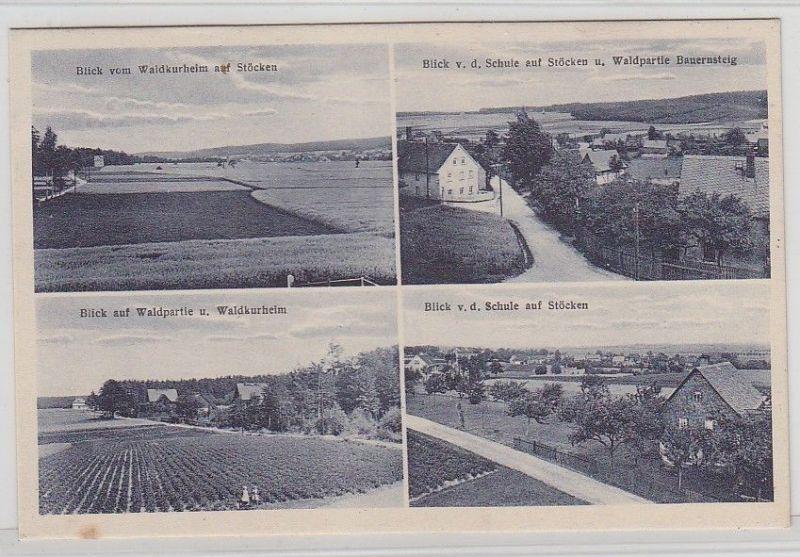 68247 Mehrbild Ak Stöcken und Waldpartie Bauernsteig, Schule usw. um 1920