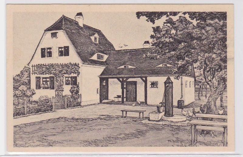 86069 Ak Kriegerheimstätte der Ortsgruppe Leipzig Frauendank 1917