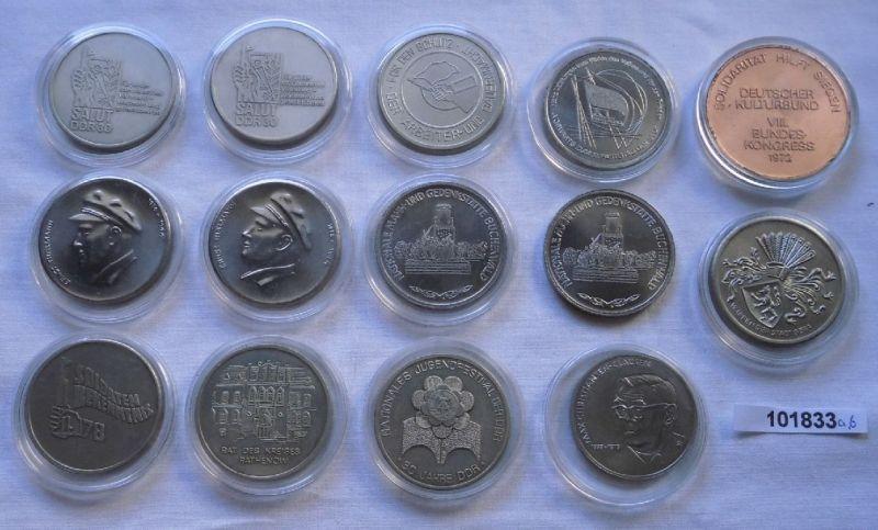14 x DDR Medaillen Kampfgruppe, NVA, Stasi usw. (101833)