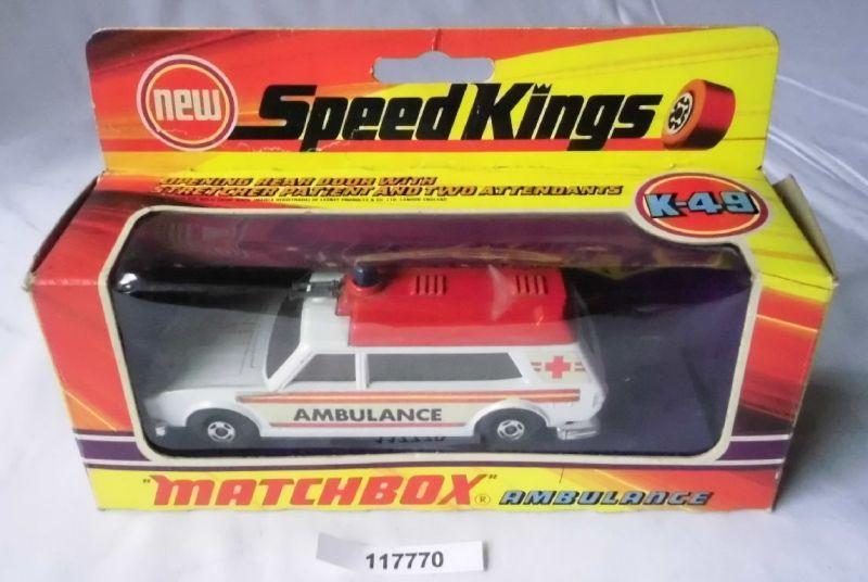 Matchbox Speed Kings Modellauto K-49 Ambulance im Originalkarton (117770)