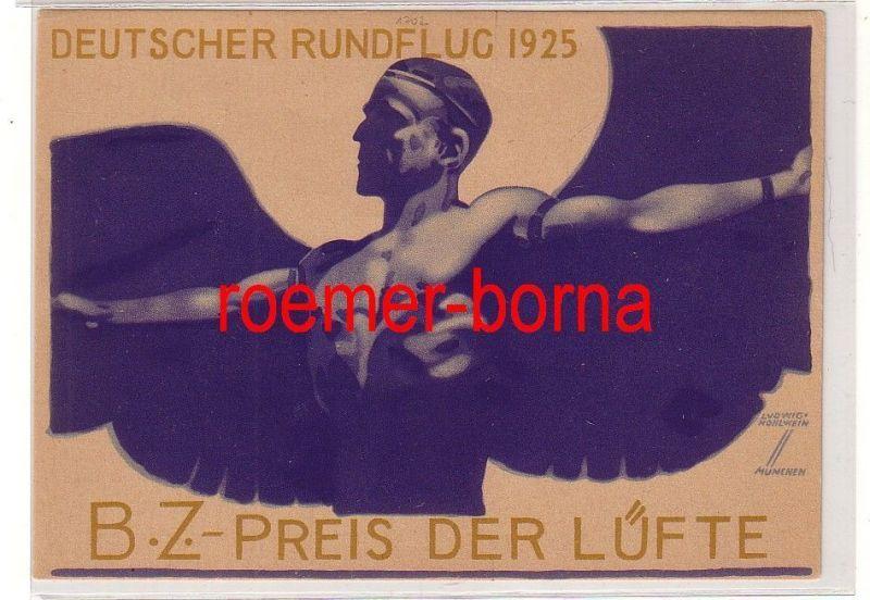 81248 Künstler Ak Deutscher Rundflug 1925 B.Z.-Preis der Lüfte 31. Mai - 9. Juni
