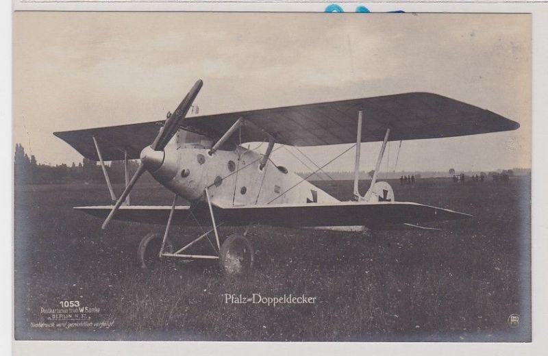 53986 W.Sanke Ak Pfalz Doppeldecker Flugzeug 1.Weltkrieg