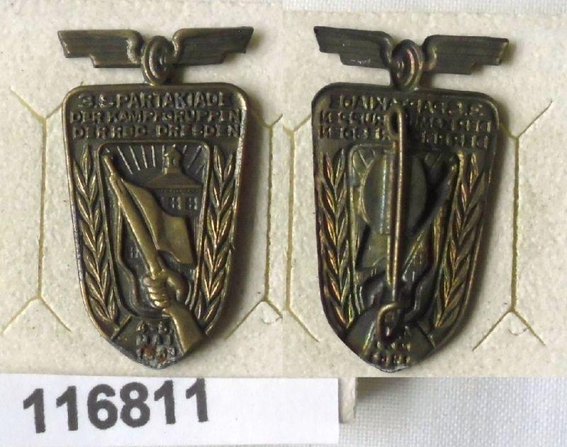 DDR Abzeichen Kampfgruppen Spartakiade der RBD Dresden 1963 (116811)