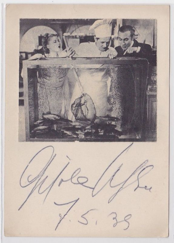 82358 Autograph Karte Schauspielerin Gisela Uhlen 7.5.1939