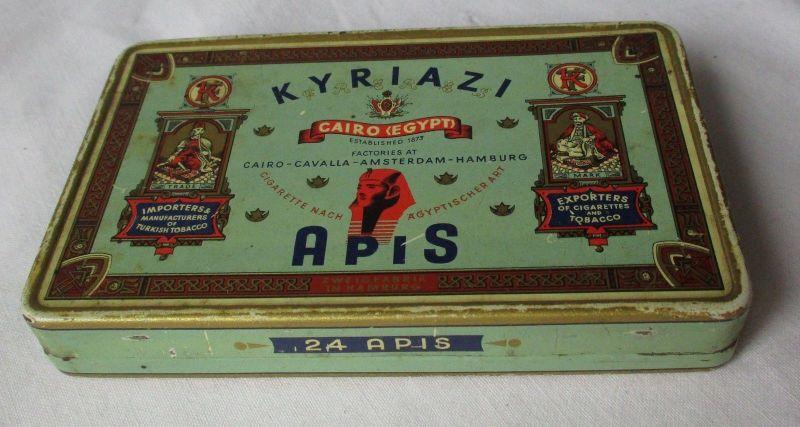 Seltene Reklame Zigarettendose Kyriazi Cairo Egypt APIS 25 Cigarettes (116161)